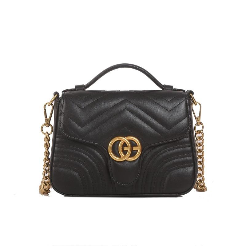 Women's Designer Handbag 2020 New High Quality Square Bags PU Leather Chain Shoulder Elegant Female Flap Messenger Bag|Shoulder Bags| - AliExpress