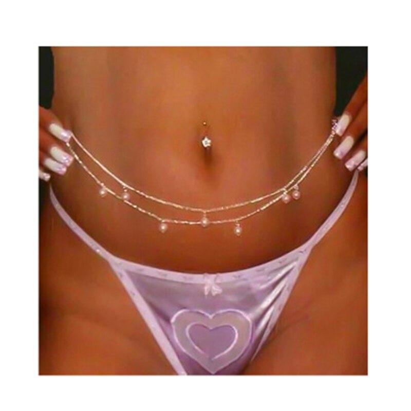 He9647485e94e4316988e656fbd7ca037v Fashion Double Pearl Bikini Sexy Waist Chain