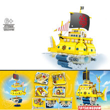 Japan Anime one piece Gehen Frohe große pirate schiff block luffy nami zoro robin sanji lysop chopper brook franky figuren spielzeug(China)