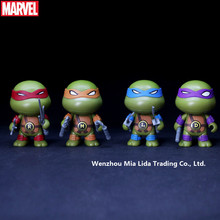 Hasbro Q version 4pcs/set  Teenage Mutant Ninja Turtles Doll Model toys цена