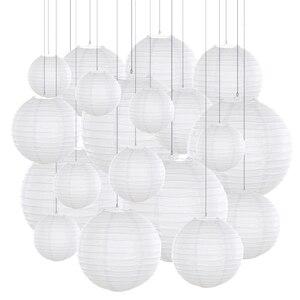 Image 3 - 20 adet/grup 6  12 Mix boyutu menekşe kağıt fenerler çin kağıt fener mor top lamba düğün için parti tatil dekorasyon