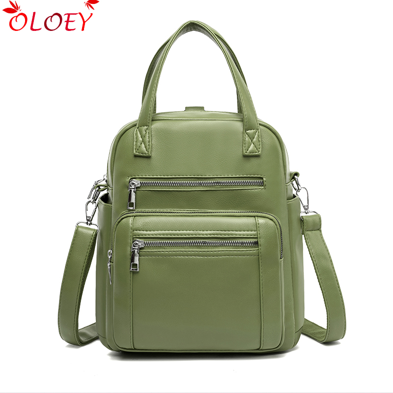 Brand Ladies Backpack 2020 New PU Leather Fresh Fashion Multifunctional Casual Bag Large Capacity Student Bag 5 Color Hot Sale