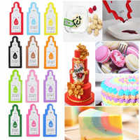 12Pcs Edible Food Pigment Coloring Healthy Safe Fondant Cake Decorating Tools Macaron Cream Cake Baking Pastry Tools