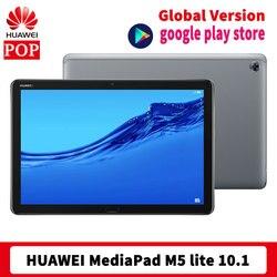 Глобальная версия HUAWEI Mediapad M5 Lite (BAH2-W19) планшетный ПК 10,1 дюймов 4 Гб 64 ГБ Android 8,0 разблокировка по отпечатку пальцев
