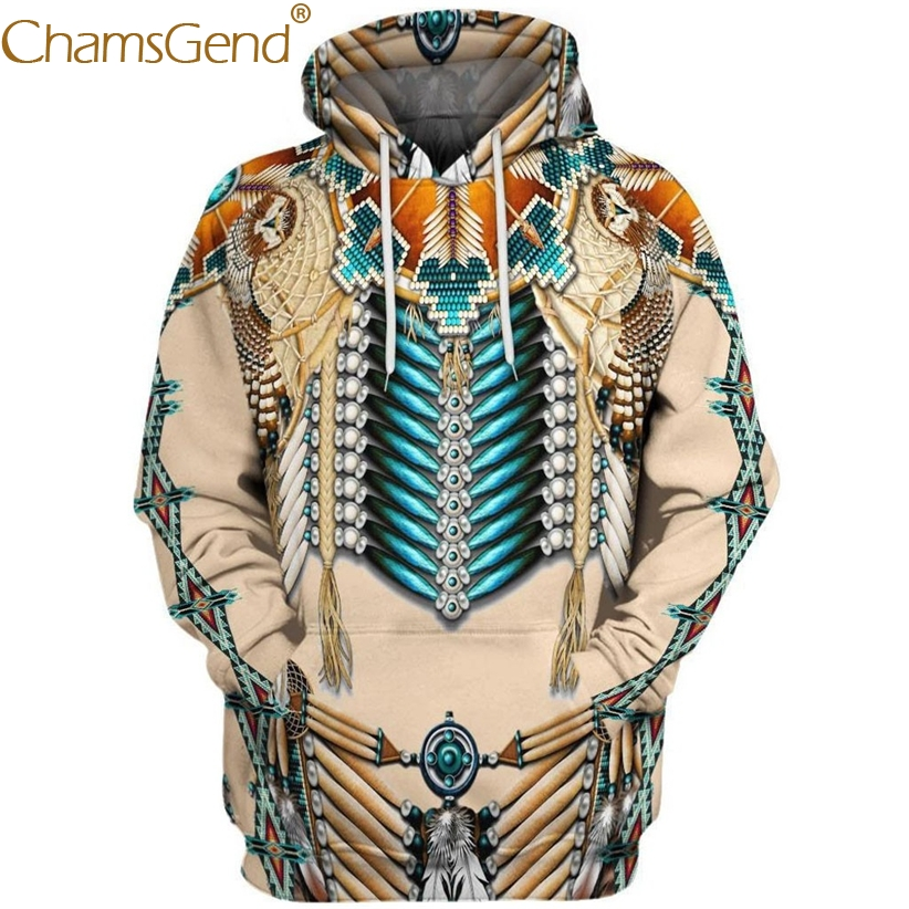 Hooded Sweatshirt Hip hop Clothing for Women S//M Turquoise and OrangeEthnic Ind