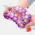 Не содержит Бисфенол А силикагель кубика льда прессформы многоцветный мягкий клей легкоочищающийся силиконовая форма льда лоток Силиконо...
