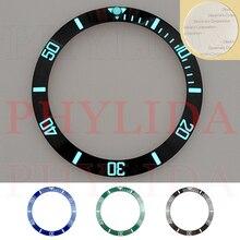 Lunette en céramique Super lumineuse, disponible en 38mm, noir, bleu, vert, Sub Divers, de montre SKX007/009, tendance