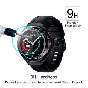 Image 2 - Protecteur décran en verre trempé 2.5D pour Huawei Honor montre magique 2 GT 2 GT2 42mm 46mm GS Pro Smartwatch Film de protection décran