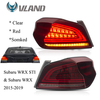 VLAND Tail lights Assembly for 2015-2019 Subaru WRX / WRX STI Tail Lamp with Sequential Turn Signal
