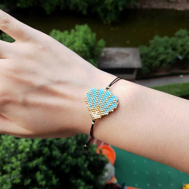 FAIRYWOO Bohemian Shell Bracelet Women Jewelry Cristal Miyuki Bead Friendship Bracelets Gold Armbanden Accessories