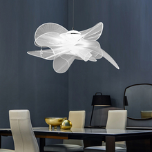 Nordic Acrylic LED Pendant Lamp Lustre Suspension Restaurant Hotel Creative Design Indoor White Hanging Lamp Luxury Fixtures