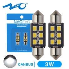 NAO C5W светодиодный гирлянда 28 мм 31 мм 36 мм 39 мм 41 мм 44 мм C10W лампа 2835 SMD автомобильное Внутреннее освещение Светодиодный светильник 12В 6000 К ламп...
