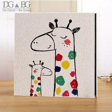 Photo Album Large Glue Free Waterproof Self-Adhesive Family Linen Cover Hand Made DIY Albums 5X7 6X8 8X10 Stockbook Memory Book