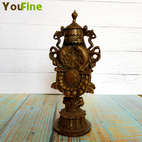 Classical bronze ornaments collection of copper artwork court royal family home interior soft