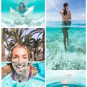 Image 2 - Telesin 6 30M Diepte Dome Poort Voor Gopro Hero Black 7 6 5 Waterdichte Duiken Behuizing Case Voor dji Osmo Action Floaty Bar Stok