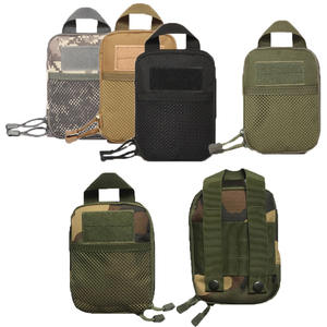 Tactical Pouch Molle Life-Saving Medical First Aid Kit Utility Portable Handbag Multifunctional Waist Camouflage Bag with Straps Field Military Nylon Tool Package Canvas Toolkit Outdoor