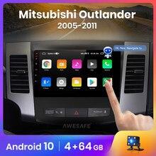 Aesafe px9 para mitsubishi outlander xl 2 2005-2011 rádio do carro reprodutor de vídeo multimídia gps nenhum 2 din android 10.0 2gb + 32gb