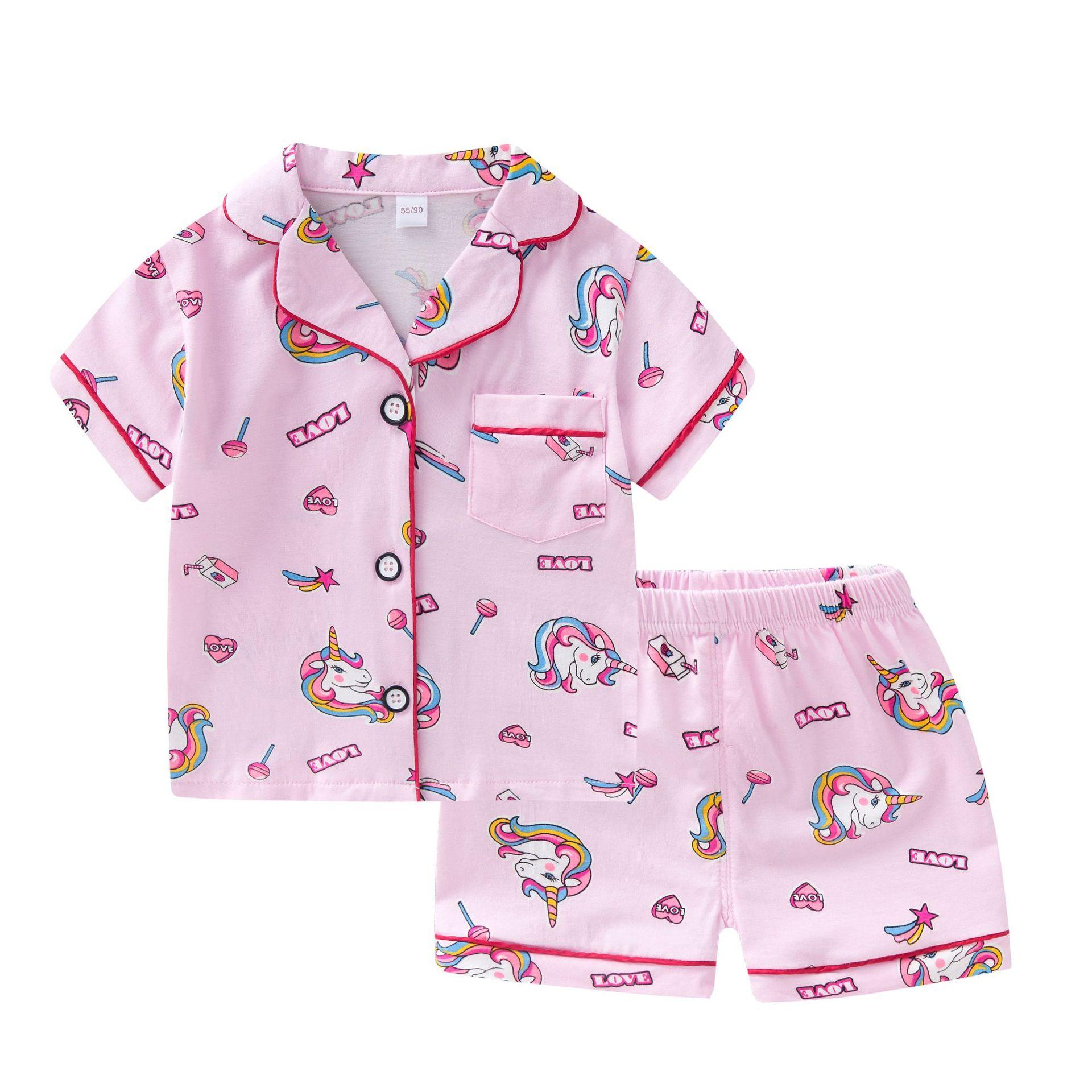 SAILEROAD 2021 New Cute Unicorn Pajamas For Girls Cartoon Animals Pyjamas For Kids Pijama Infantil Boys Sleepwear Clothes Sets 1