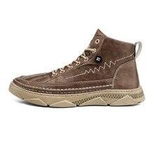 Moda inverno botas masculinas puleather masculino à prova dwaterproof água sapatos chaussure mans sapatos casuais para homens botas calçados masculinos sneakers68