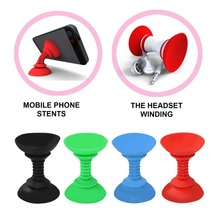lovely pu cell phone holder w hook for car black red New Cell phone holder PU Silicone Double-end Suction Cup Car Holder Sucker Strong Adsorbability Stand For Android for Iphone