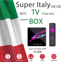 Italie italien tvbox smart iptv espagne royaume-uni DE l'ue iptv box prend en charge suisse Tvbox adulte tv m3u Tv box seulement pas DE chaînes incluses(China)