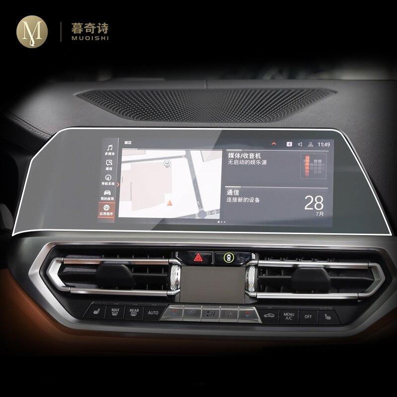Para bmw g22 g23 série 4 2020 2021 carro gps navegação película protetora tela lcd filme tpu protetor de tela anti-risco interior