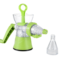 Multifuctional Kitchen Manual Hand Crank Single Auger Juicer with Suction Base Hand Juicer for Wheatgrass Fruit Vegetable|Manual Juicers| |  -