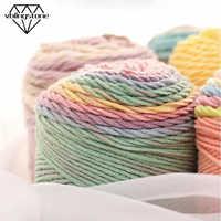 100g 193M Yarn Rainbow Soft Cotton Yarn For Knitting Wool Thick Yarn Crochet For Baby Hand Knitted Blanket/Socks/Hat/Scarf DIY
