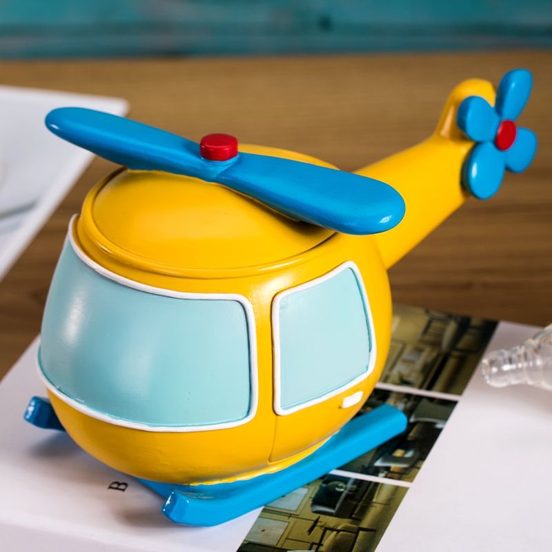 Creative Helicopter Style Children Milk Teeth Organizer Baby Tooth Organizer for Kids Resin Design Teeth Box Boys Girls ZL223