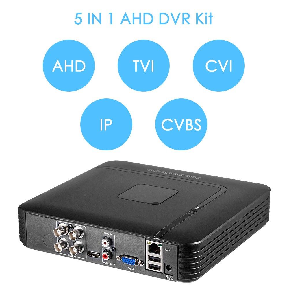 FUERS 4CH CCTV System 720p Indoor Sicherheit Kamera DVR Kit Tag/Nacht Home Video Surveillance System 1TB 2TB Festplatte 24LED Licht