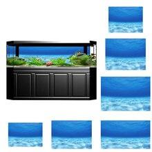 Imagem 3d hd tanque de peixes aquário fundo pintura paisagem adesivo cartaz tanque subaquático oceano pano de fundo decoração do aquário