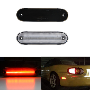 2PCS Smoked/Clear Red LED Rear Side Marker Light Lamp For Mazda NA NB Miata MX-5 1990-2005 image