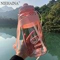 2000 мл-600 мл на открытом воздухе Фитнес Спортивная бутылка из пластика (чайник большой Ёмкость Портативный горный велосипедный Бутылки для в...