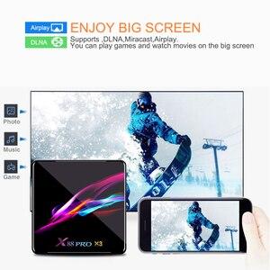 Image 3 - X88 pro x3 8k caixa de tv amlogic s905x3 quad core 64bit 4k @ 60fps 4g 128g android 9.0 conjunto caixa de topo smarttv