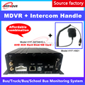 LSZ 4G gps MDVR CMSV6 платформа мониторинга + домофон ручка большой грузовик/RV/автобус PAL/NTSC