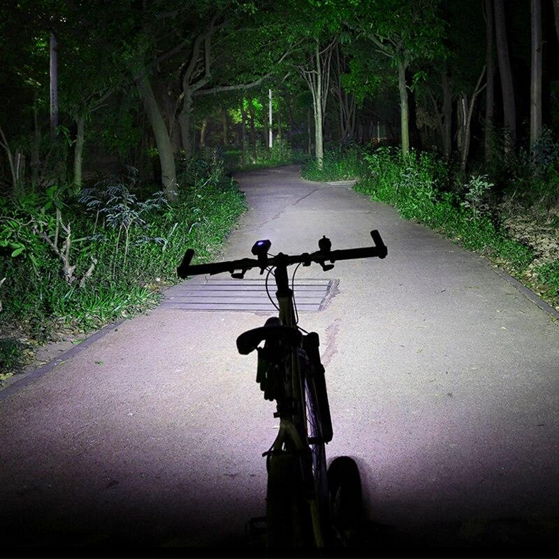 ROCKBROS 1800LM велосипедный фонарь прожектор и фокусировка луч MTB дорожный велосипед Руль передний свет Водонепроницаемая светодиодная лампа для фары power Bank - 5