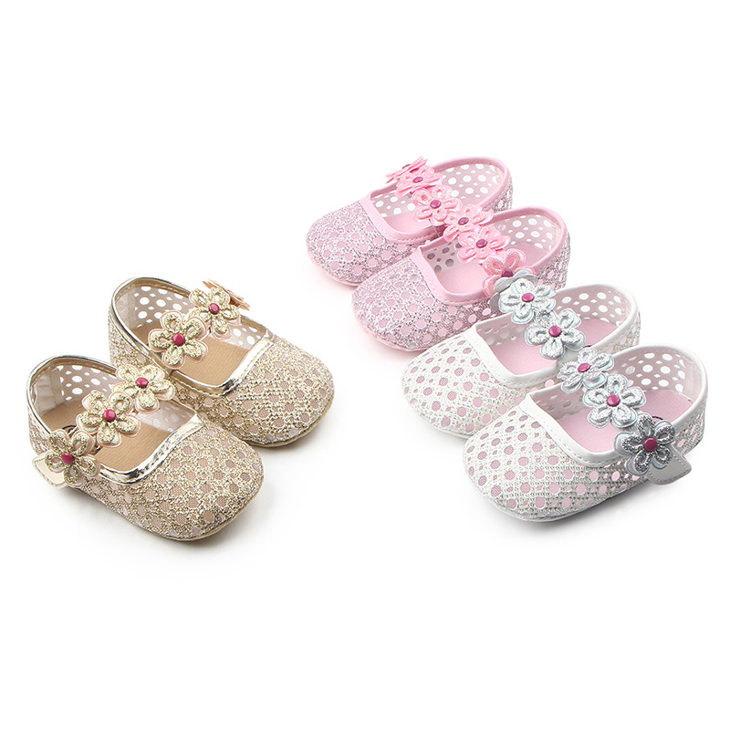 Kids Baby Moccasins Baby Girls Child Shoes Party Princess Crib Shoes Newborn FLOWER New Born Girl Shoes First Walker For 0-18M