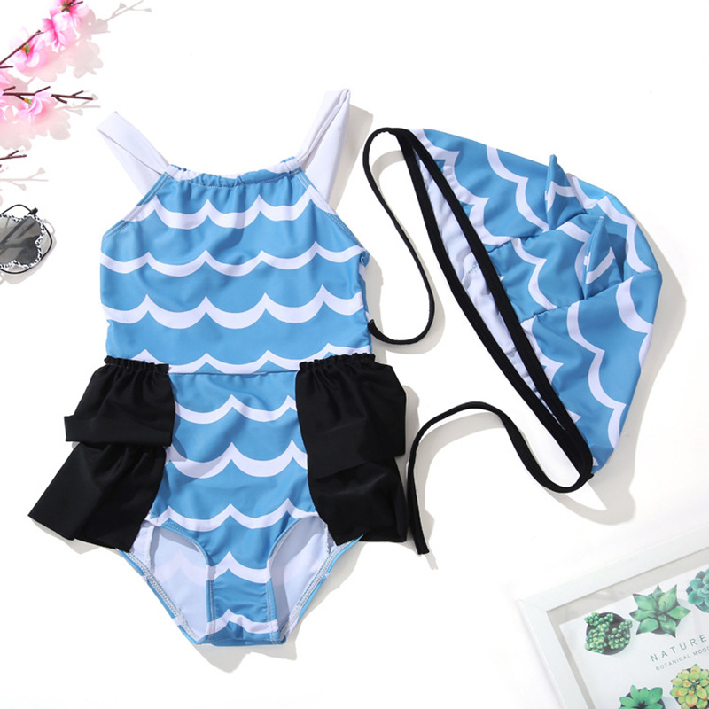 Cute Baby GIRL'S One-piece Swimming Suit Princess Aged 1-2 Years Infant 3-4 Baby GIRL'S Treasure 5-6 Small CHILDREN'S Girls GIRL