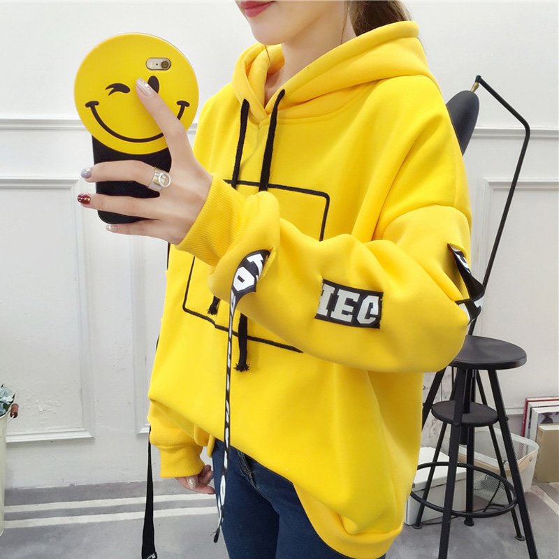 Letter Printed Casual Hoodies Women Sweatshirts Spring Long Sleeve Hooded Sweatshirt Woman 2020 Streetwear Autumn Pullover Lady