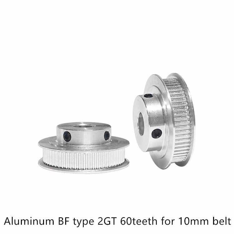 Synchronous wheel GT2 60teeth bore 5mm 6mm 6.35mm 8mm 12mm 14mm fit 2GT belt width 9mm 10mm