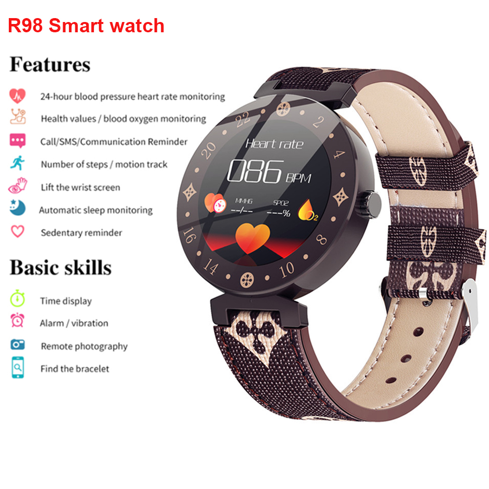 Smarcent R98 Lady Cute Smart Watch Bracelet Sport Activity Fitness Tracker Colorful Display IP67 Waterproof for Andorid IOS