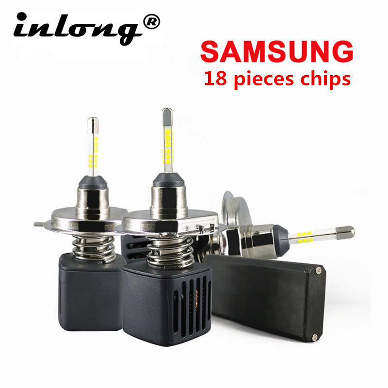 2Pcs With SAMSUNG CSP Mini H7 <font><b>Led</b></font> Bulbs <font><b>H4</b></font> <font><b>Led</b></font> <font><b>10000LM</b></font> 80W H1 H8 H11 <font><b>LED</b></font> 9005 HB3 9006 HB4 D1S Car Headlight 6500K Fog Light 12V image