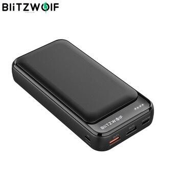 BlitzWolf BW-P11 20000mAh mobilny powerbank 18W QC3.0 PD power bank dla iPhone 11 Pro X dla Samsung S9 S10 dla Xiaomi dla Huawei
