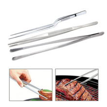 Tweezers Tongs Meat-Beef-Tong Food-Clip BBQ Stainless-Steel Extra-Long 12inch Basedidea