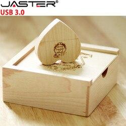 JASTER USB 3.0 drewniany pendrive usb + box w kształcie serca 4GB 8GB 16GB 32GB 64GB 128GB pamięć usb dysk zewnętrzny pendrive