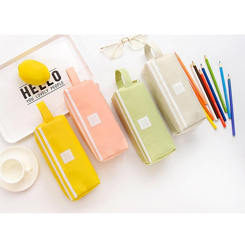Girls Cute Pencil Case Pen Storage Bag 2 Compartments Makeup Coin Purse For Women New Arrival