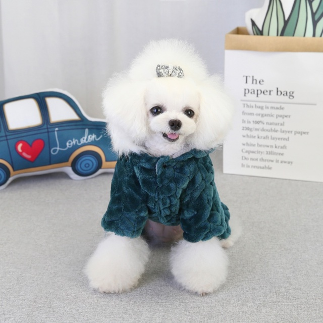 Winter Pet Dog Clothes Warm Dog Coat Jumpsuit Thicken Pet Clothing For  French Bulldog Teddy Dogs Costume Puppy Jackets 5