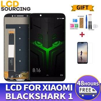 עבור Xiaomi שחור כריש 1 LCD מסך תצוגה + מגע זכוכית Digitizer מלא עצרת החלפת לxiaomi BlackShark 1 תצוגה מסכי LCD לטלפון נייד טלפונים סלולריים ותקשורת -