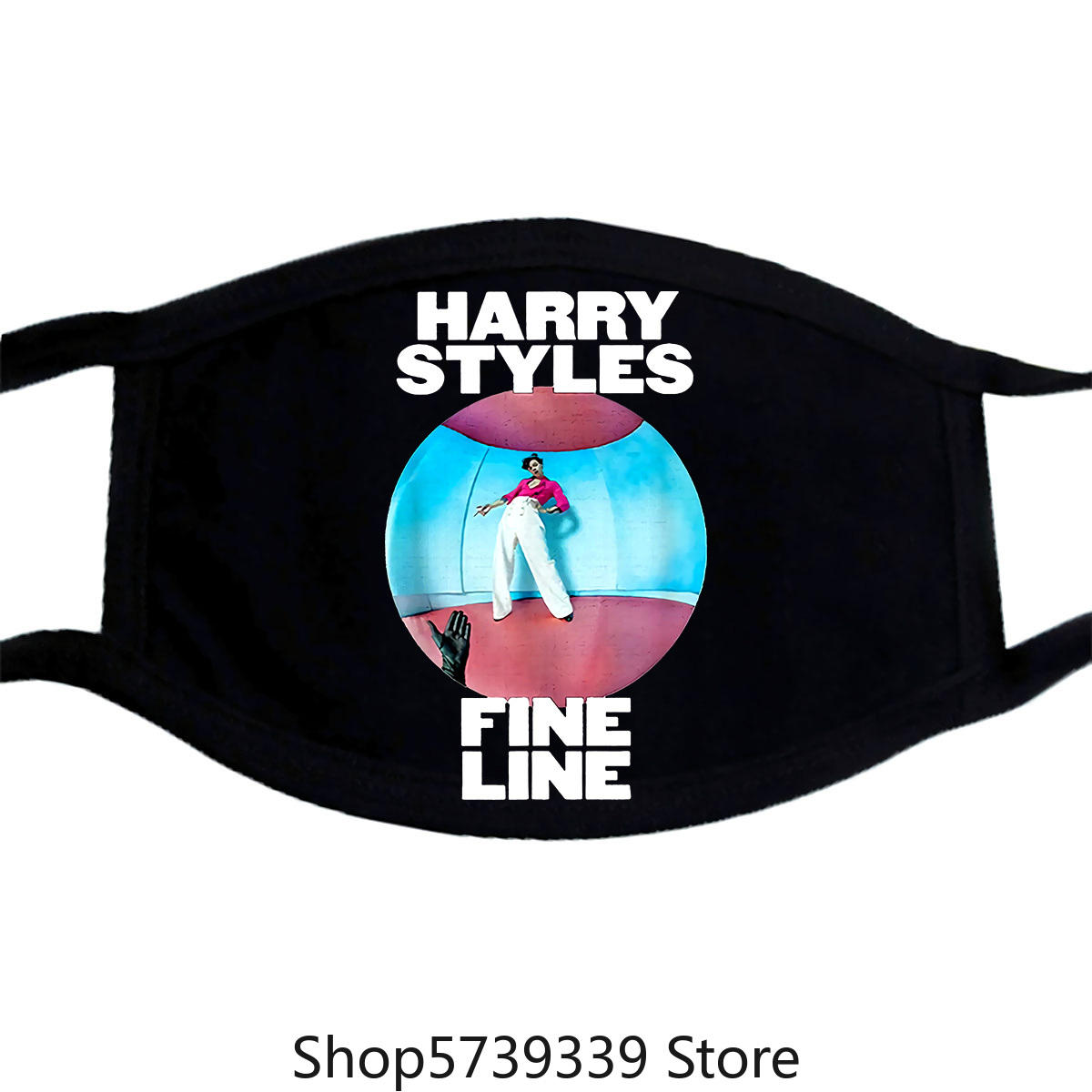 Harry Styles-Fine Line Black Mask Washable Reusable Mask For Unisex Black