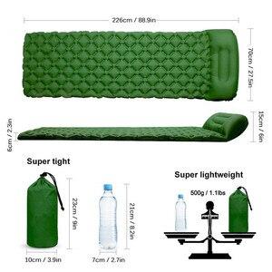 Image 5 - Camping Isomatte Ultraleicht Aufblasbare Schlaf Matte Im Freien Überleben Reise Wandern Camping Pad Bett Luft Sofa Schlafsack